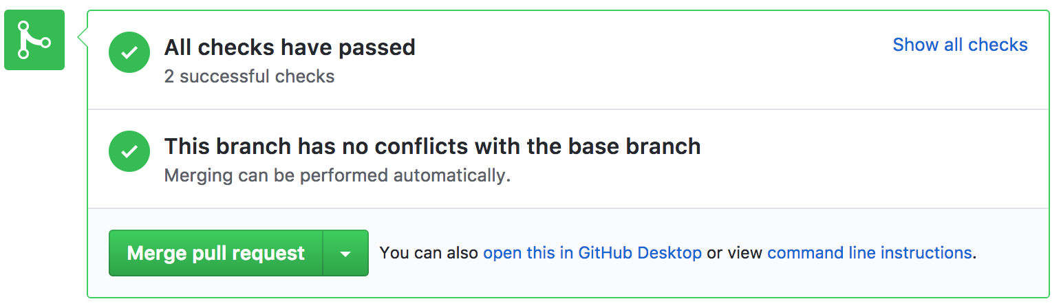 Success commit statuses - will auto-deploy