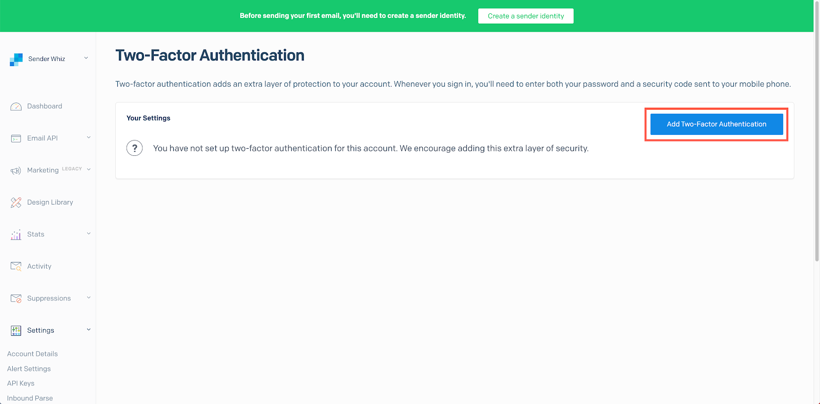 add two factor authentication