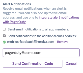 notifications preferences form