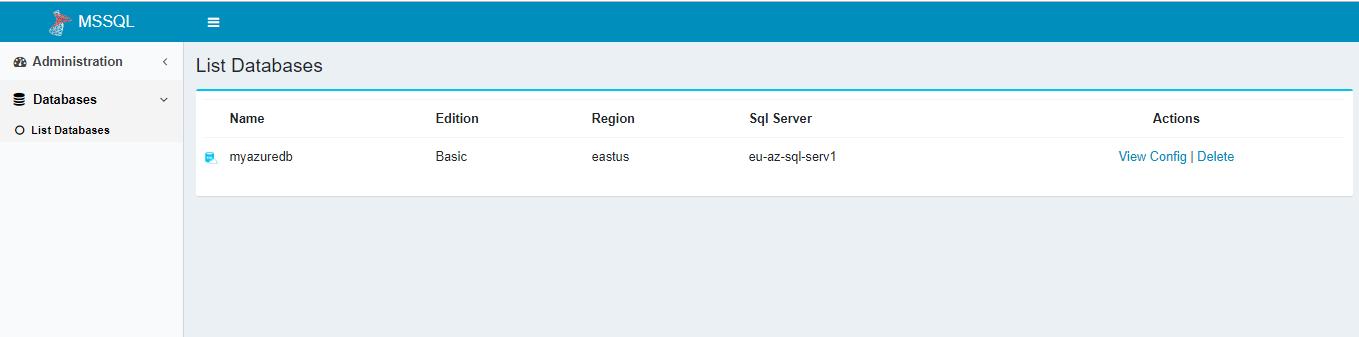 Database List